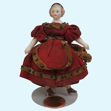 1860s Alice Bisque Doll House Doll 3.5 inches