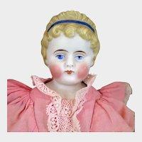 1870s Alt Beck & Gottschalck Bisque Parian Doll with Headband 14 inches