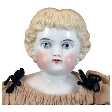 1880s C.F. Kling Highland  Mary China Doll 19 inches