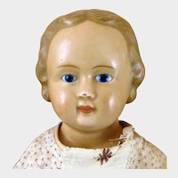 Wax over Papier Mache Doll  22 inches