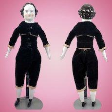 Antique German Kestner China Head Boy Doll 15 inches