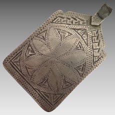 Antique Moroccan Berber Sterling Silver Pendant Amulet