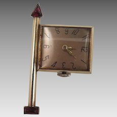 1940s-50s Working Watch Brooch