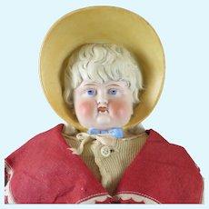 Antique German Bisque Bonnet Doll 22 inches