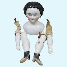 1890s German China Head Doll Original Parts
