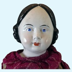1860s German Covered Wagon China Doll 30 inch
