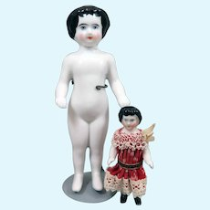2 German Frozen Charlotte Dolls