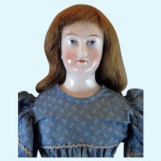 1860s Schlaggenwald Bald China Doll 22 inches