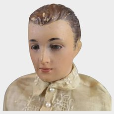 1950s Wood Male Doll by Tita Ling 13 inches