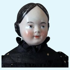 1860s German Covered Wagon China Doll 20 inches