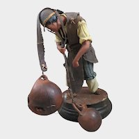 Antique Wax Water Carrier Doll Figure 10 inches