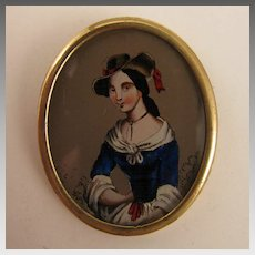 Victorian Revival Lady Portrait Brooch