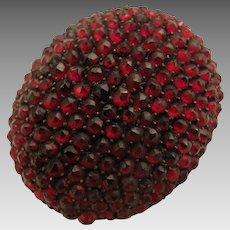 Antique Victorian Rose Cut Garnet Cluster Brooch