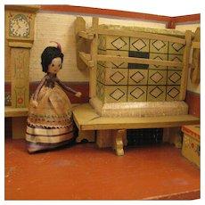 c.1920-40 German Wood Kitchen Room Box