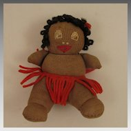 1930s Black 4 inch Cloth Josephine Baker Baby Doll