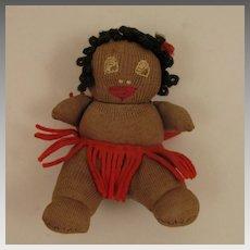 1930s Black 4 inch Cloth Josephine Baker Baby Doll
