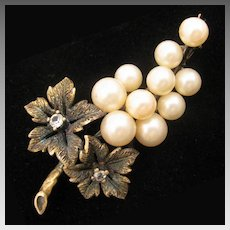 1930s Grape Cluster Spanish 915 Silver Brooch