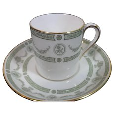 Vintage Crown Staffordshire Demitasse Cup and Saucer Apollo Pattern