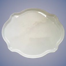 Antique French Limoges Tray White Undecorated Large