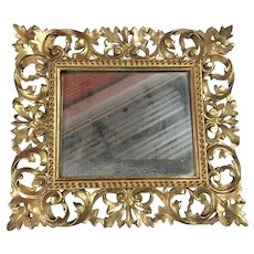 Gorgeous Antique Ornate Carved Wood Gesso Frame 14X16""