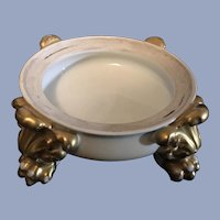 Antique French Limoges Plinth Stand Paw Feet For Jardiniere Bowl