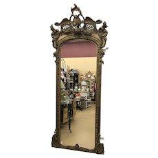 Fantastic 19th Century Cherub Gesso Pier Mirror