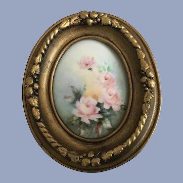 Precious Antique Roses Plaque Framed