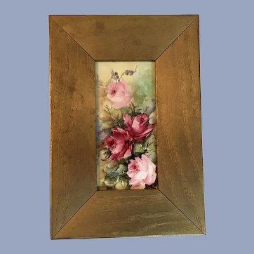 Beautiful Antique Roses Plaque Brooks 1909