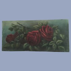 Lovely Antique Roses Oil Painting Signed