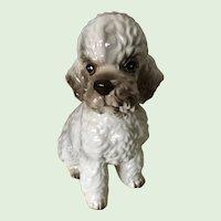 Large Vintage Porcelain Poodle Dog Figurine