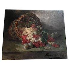 Alfred-Arthur Brunel de Neuville (French 1852-1941) Still Life Oil Painting