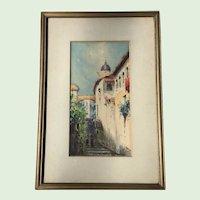 Fine Vintage Watercolor Signed Beard Art Galleries