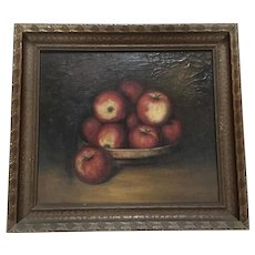 Fine Still Life of Apples Oil Painting RH Dowler