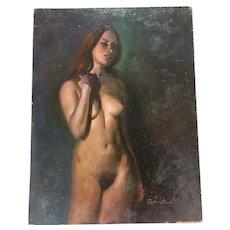 Gorgeous Vintage Nude Oil Painting Richard Clive
