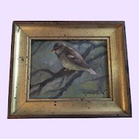Vintage Bird Oil Painting by Richard Clive