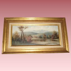 George McConnell 1905 Fine Antique Landscape Oil Painting