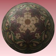 Gorgeous Antique Reverse Painted Glass Lamp Shade