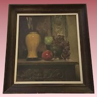David Cunningham Lithgow (1868-1958) Still Life Oil Painting Vintage, Famous Albany NY Painter