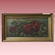 Antique Roses Oil Painting