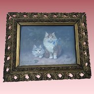 Sophie Sperlich (1863-1906, German) Kittens Oil Painting