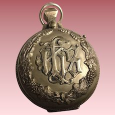 Vintage Sterling Silver and Gold Plated Bishop's Sacred Pyx Religious Vessel to Transport the Host