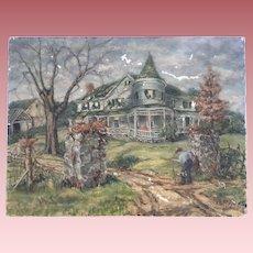 Bernice M. Webster 1895-1985 Landscape Oil Painting