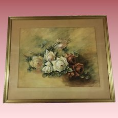 Beautiful Roses Painting Signed
