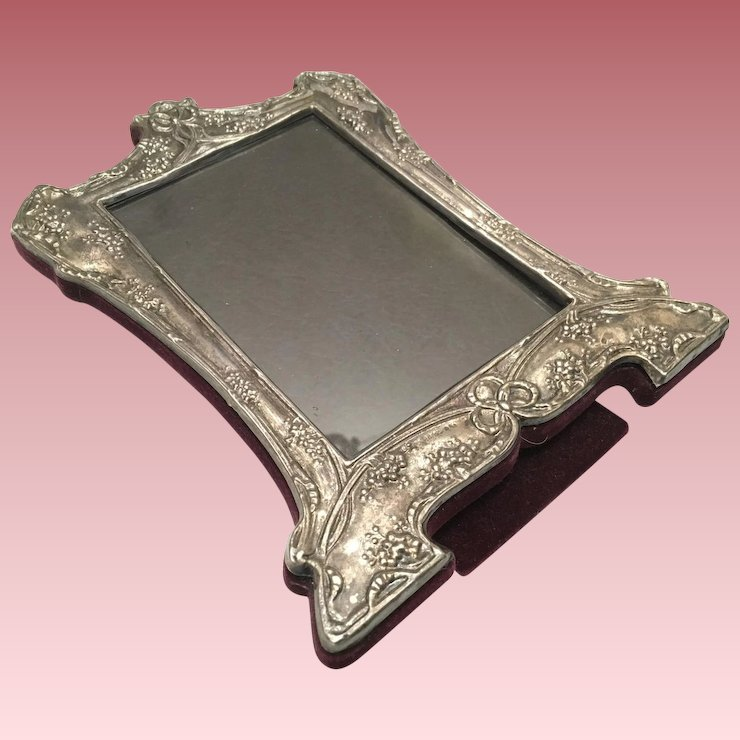 Vintage Sterling Silver Picture Frame With Easel Ornate 8 14 In