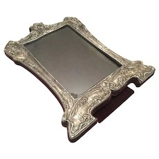 Vintage Sterling Silver Picture Frame With Easel Ornate 8-1/4""