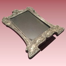 """Vintage Sterling Silver Picture Frame With Easel Ornate 8-1/4"""""""