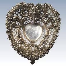 Vintage Gorham Sterling Silver Heart Dish Ornate