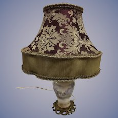 Antique French Sevres or Limoges Lamp