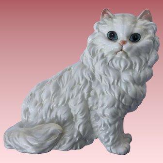 Vintage Porcelain Persian Cat Large