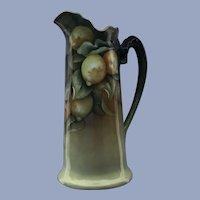 Antique Porcelain Pitcher Lemons Dragon Handle